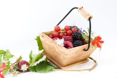 Basket of red fruits Stock Photography
