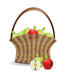 Basket of red and green apples Royalty Free Stock Image