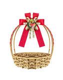 Basket and ribbon Royalty Free Stock Photos