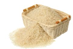 Basket of rice Stock Photos