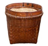 Basket with rice Royalty Free Stock Image