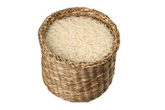 Basket of rice Stock Images