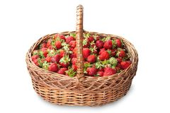 Basket of ripe strawberries Royalty Free Stock Images