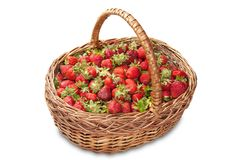 Basket of ripe strawberries Royalty Free Stock Photo