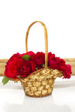 Basket of roses Royalty Free Stock Photography
