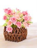 Basket roses Royalty Free Stock Image