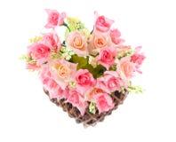 Basket roses Stock Photo