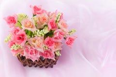 Basket roses Stock Photos