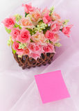 Basket roses Stock Photography