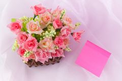 Basket roses Stock Image
