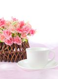 Basket roses Royalty Free Stock Images