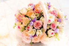 Basket of roses Stock Image