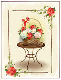 Basket  with roses. Stock Photography