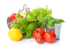 Basket Of Salad Stock Photos