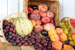 Basket of seasonal fruits Stock Photography