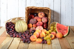 Basket of seasonal fruits Royalty Free Stock Images