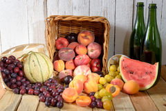 Basket of seasonal fruits Royalty Free Stock Photography