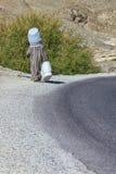 Basket seller in rural Morocco. Stock Images