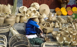 Basket Seller Stock Photos