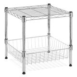 Basket shelve metal rack Stock Images