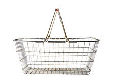 Basket in the shop Stock Images