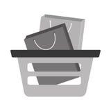 Basket shopping bag gift gray color Stock Image