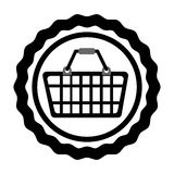 Basket shopping commercial icon Royalty Free Stock Images