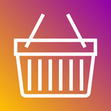 Basket shopping icon in trendy flat style isolated on grey background. Internet and ecommerce symbol for your design, logo, UI. Ve Stock Photography
