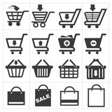 Basket shopping icon Stock Photography