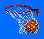 Basket shot. Rendered basket shot with adaptive background Royalty Free Stock Images