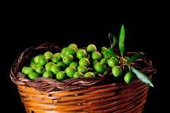Basket of Sicilian olives Stock Image