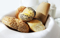 Basket small bread Royalty Free Stock Images