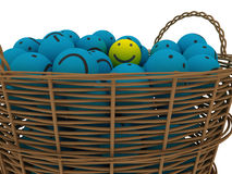 Basket with smileys Royalty Free Stock Photography
