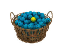 Basket with smileys Stock Images