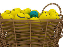 Basket with smileys Royalty Free Stock Image