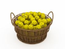 Basket with smileys Stock Image