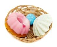 basket soaps spa λευκό Στοκ εικόνα με δικαίωμα ελεύθερης χρήσης