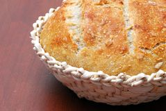 Basket with sourdough bread Royalty Free Stock Images