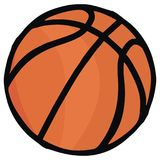 Basket sportboll, vektorsymbol Royaltyfri Foto