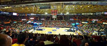 Basket stadium. VALENCIA - JANUARY 28: Panoramic view of Fuente de San Luis, the stadium of Valencia Basket team before the match between Valencia Basket and Stock Images