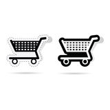 Basket sticker art vector illustration. On a white Royalty Free Stock Photography