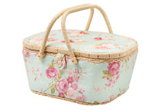 Basket for storage of accessories for sewing Royalty Free Stock Photography