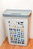 Basket for storage of dirty cable. Basket for storage of laundry at home Royalty Free Stock Photography
