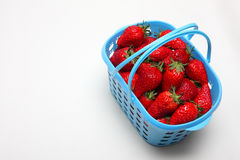 A basket of strawberries Stock Images