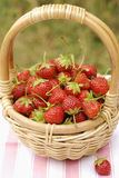 Basket of strawberries Royalty Free Stock Photos