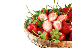 A basket of strawberries Stock Image
