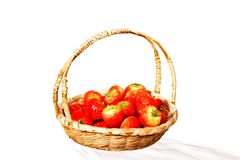 Basket with strawberries Stock Photography