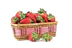 Basket with strawberries Royalty Free Stock Image