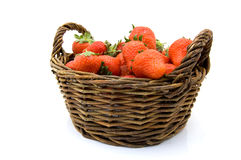 Basket with strawberries Royalty Free Stock Photos