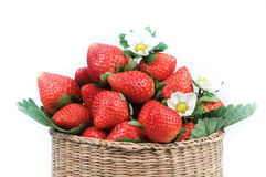 A basket of strawberries Stock Photos